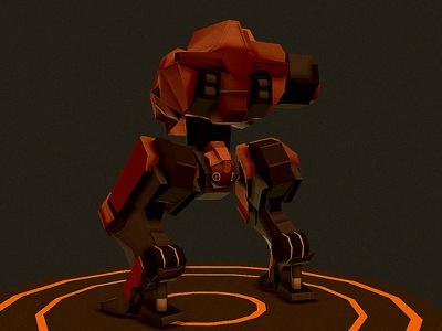 Partially destroyed robot game war military robotocs mech robot c4d 3d