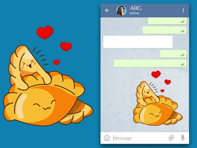 Arg Telegram 2 restaurant sticker telegram smile question sun espanadas bull
