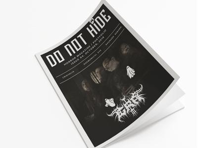 DO NOT HIDE magazine #4 art music metal magazine design gore horror
