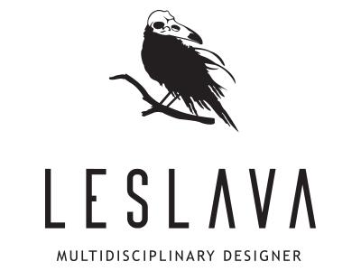 Leslava skull minimal simple black  white crow leslavadesign leslava