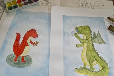 Dribbble dragons