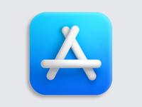 App Store Big Sur 3D icon apple shadows concept clean illustration 3d art coronarender macos icon macos appstore app 3dicon cinema4d c4d 3d