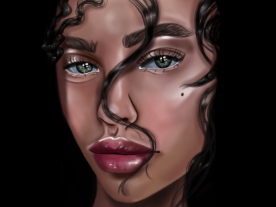 Natalie painting art face girl procreate