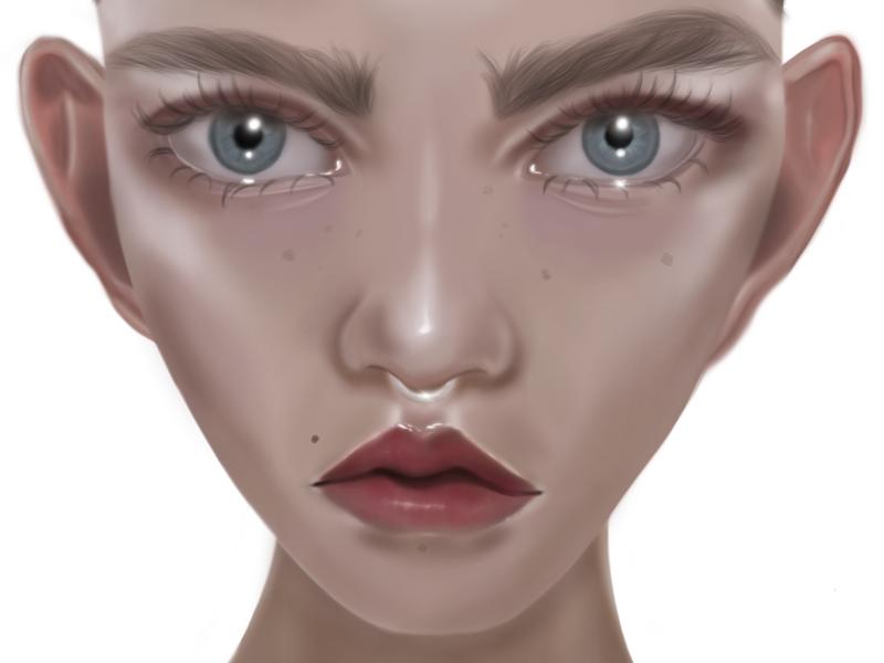 Eva girl design procreate app drawing art artwork