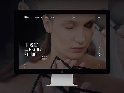 Beauty studio minimal webdesign web stylist makeup ux ui studio beauty