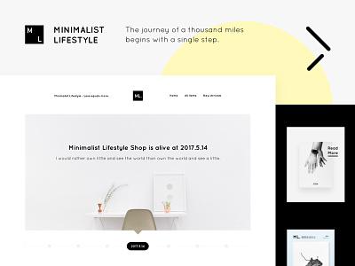 Minimalist Lifestyle 淘宝 电商 极简 minimalist web design web e-commerce design layout