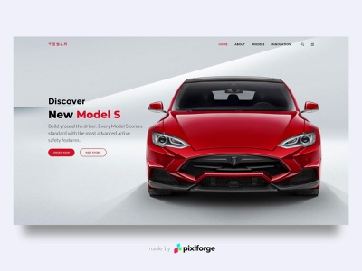 Tesla web branding tesla pixlforge interface design interface uiux website webdesign design