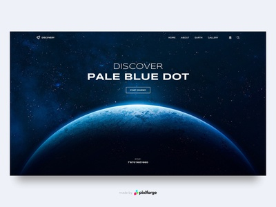 Discovery - Pale Blue Dot blue earth space website webdesign web uiux pixlforge interface design interface design