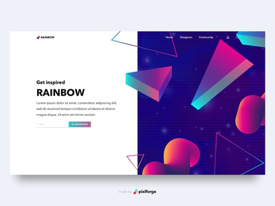 Rainbow Community community rainbow branding website webdesign web uiux pixlforge interface design interface design