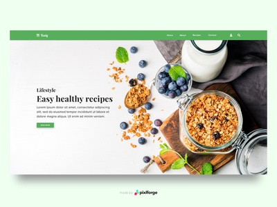 Tasty recipes lifestyle healthy food healthy tasty branding website webdesign web uiux pixlforge interface design interface design