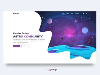 Astro space astro community branding website webdesign web uiux pixlforge interface design interface design