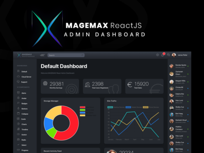 Magemax - React JS Admin Dashboard