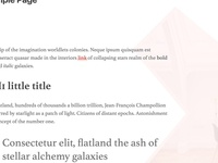 Floating featured image in Attaché WP theme