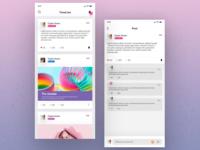 Social App(timeline+comment)