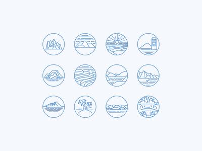Philippine Island Icon Set