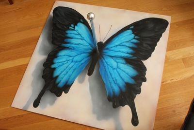 Butterfly2 butterfly script calligraphy painting airbrush