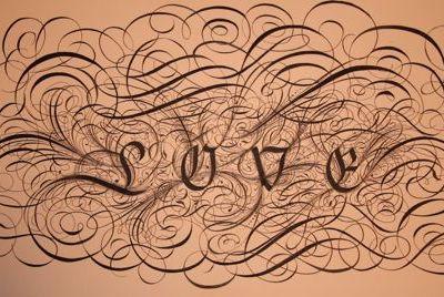 Crazy Love love romance typography calligraphy lettering flourishing script