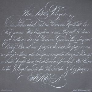 The Lord's Prayer calligraphy typography lettering script handwriting lordsprayer prayer faith religious