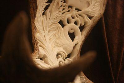 Carved Moose Antler  carving antler moose sculpture crest