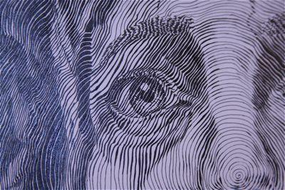 Single Stroke (Close up)  calligraphy art illustration jesus christ portrait
