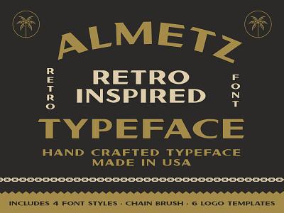 Almetz Font california palm font design vintage logo vintage badge vintage badges vintage font vintage retro font