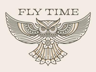 Owl Illustration vintage flower flower vintage font retro type retro design vintage design owl design owl own illustration