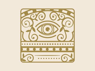 Eye Badge mystical vintage badge vintage logo detailed eye retro vintage badge design eye badge