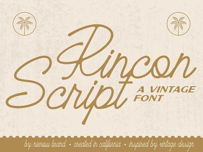 Rincon Script Font nienowbrand rincon script rincon script vintage script font lockup retro logo retro design retro font badge design vintage logo script logo script font vintage font