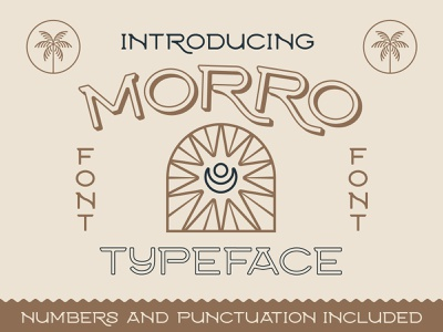 Morro Tyepface beach vintage design typeface retro fonts nienowbrand morro font mexico western font western moon design sun design badge design clean font modern font desert font retro font vintage font