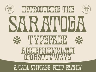 Saratoga Typeface nienowbrand font sale illustration slab serif font western font trendy font palm skull trippy plant design flower texture font mystical psychedelic art badge design typedesign new typeface new font groovy psychedelic