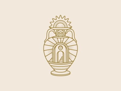 Band Merch Illustration 3 band badge design retro badge logo design illustration stippple ornate entrance pot flower vintage design california vintage traditional tattoo