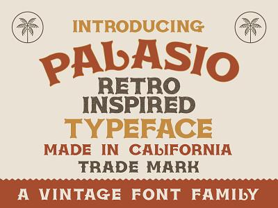 Palasio Typeface mexicali retro font illustration retro vintage design new font badge design palasio california font cactus desert design cowboy font western font spanish font typeface