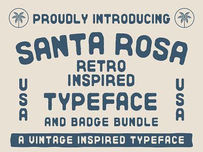 Santa Rosa Typeface line design ornate design bandana font download island font beach font free font free california palm tree nienowbrand santa rosa ink font banner badge design retro font typeface design
