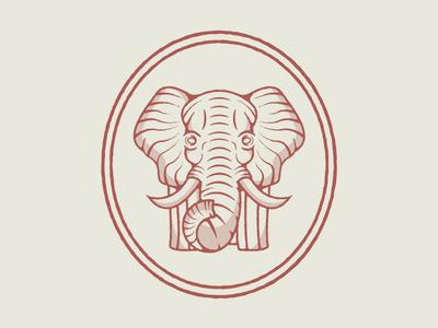 Vintage Elephant Badge