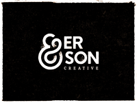Anderson Creative_v2.0 ampersand texture freelance design typography branding logo