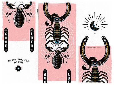 ALMOST moon eye scorpion grenade horseshoe skateboarding skateboard design vector illustration