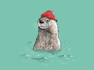 Stevesie illustration photoshop otter esteban movie halloween the life aquatic bill murray wes anderson