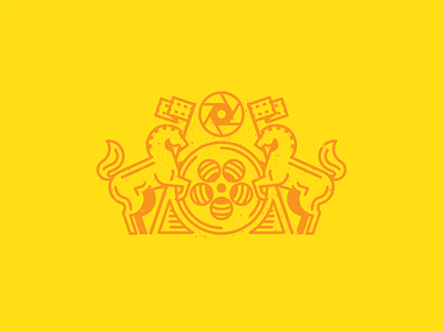 Filly Films studio movie flag film horse logo illustration vector