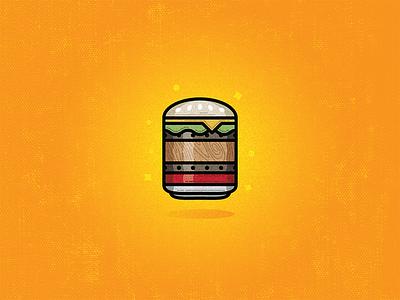 BBB beer bourbon burger icon vector illustration