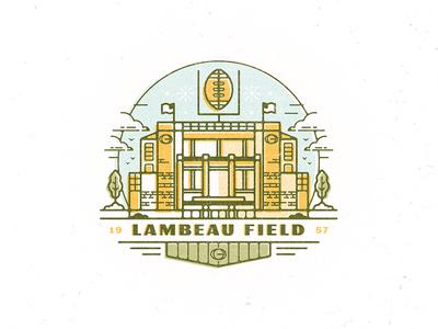 Lambeau green bay challenge 52weeks wisconsin field lambeau cheeseheads packers football sports vector illustration