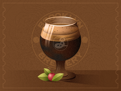Black Chocolate Stout beer for breakfast stout brooklyn brewery beer chocolate cherry grain photoshop vector illustration