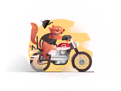 ChipPUNK bike vroom honda tattoo helmet rodent motorcycle chipmunk vector challenge 52weeks illustration