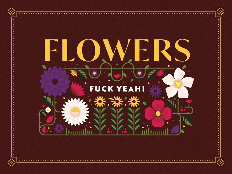 (Flow)er Budz thorns nature spring pollen outdoors vines flowers typography design vector illustration