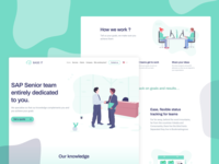 SAP Company - Landing Page