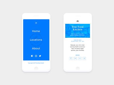 Nutrispot UI county orange menu hamburger white clay iphone mobile app health ui