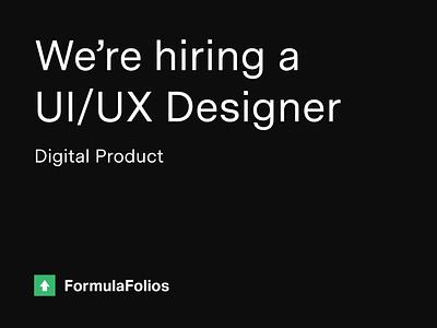 We're Hiring! 2019 product digital hiring ui  ux