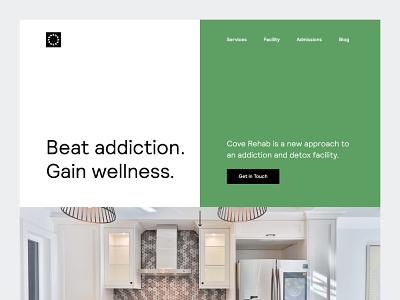 Cove Rehab Homepage clean swiss home page ui