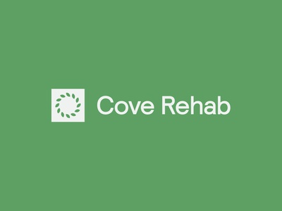 Cove Rehab - Main Logo leaf identity clean health logo