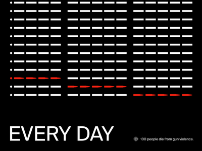 100 Every Day violence gun swiss