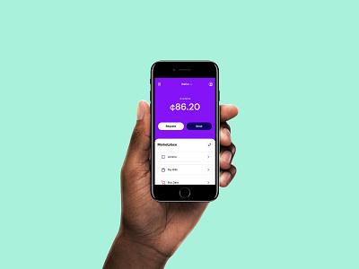 Send n Receive app fintech finance cash product design ui